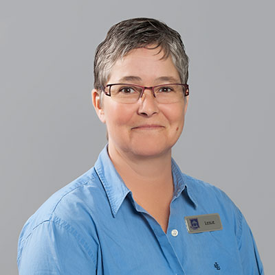 Portrait image of Leslie Whittaker, Assistant Manager